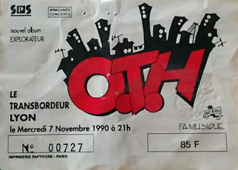 "7 novembre 1990 OTH à Villeurbanne ""Transbordeur"""