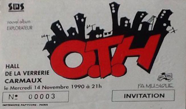 """14 novembre 1990 OTH à Carmaux """"Hall de la Verrerie"""""""