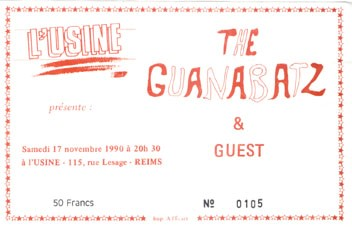 "17 novembre 1990 The Guanabatz à Reims ""L'usine"""