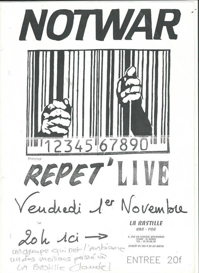 """1er novembre 1991 (ou 1996) Notwar au Havre """"la Bastille"""""""