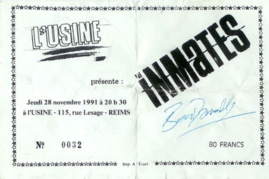 "28 novembre 1991 Inmates à Reims ""l'Usine"""
