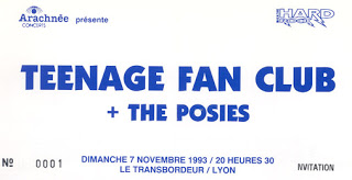 "7 novembre 1993 Teenage Fan Club, The Posies à Villeurbanne ""le Transbordeur"""