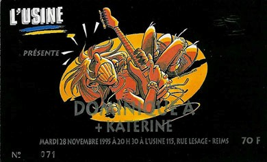 "28 novembre 1996 Dominique A, Katerine à Reims ""l'Usine"""