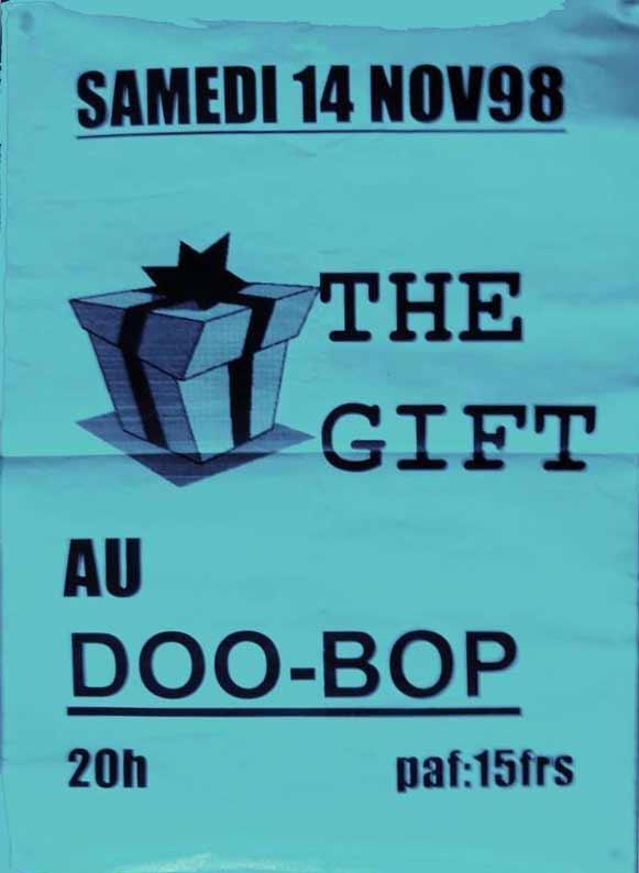 "14 novembre 1998 The Gift au Havre ""le Doo Bop"""