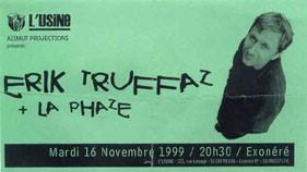 """16 novembre 1999 Erik Truffaz, La Phaze à Reims """"l'Usine"""""""