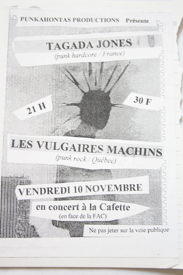 """10 novembre 2000 Tagada Jones, les Vulgaires Machins au Havre """"la Cafette"""""""