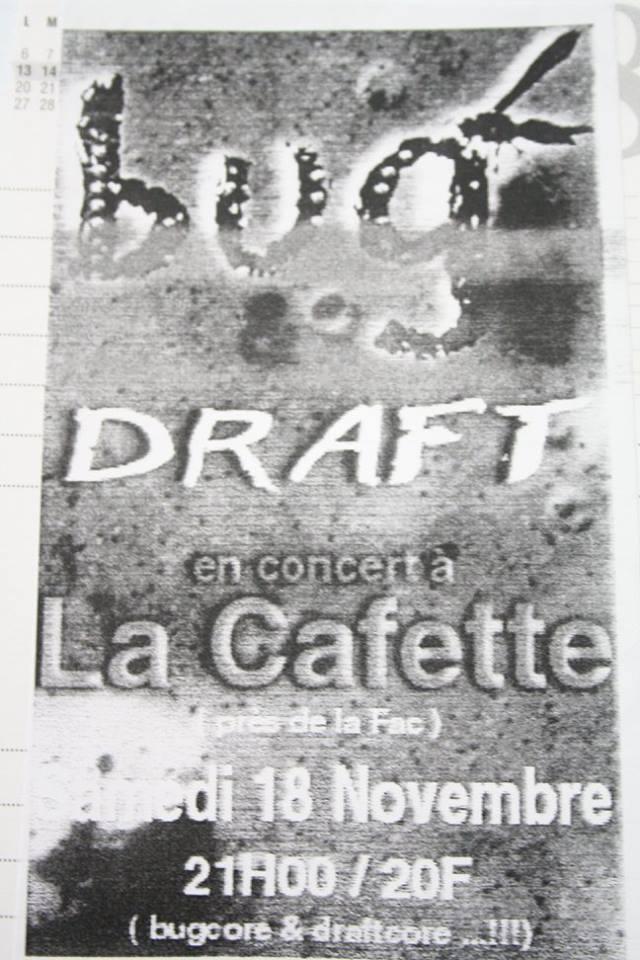 """18 novembre 2000 Bug, Draft au Havre """"la Cafette"""""""