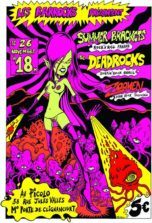"""26 novembre 2005 Summer Brackets, Deadrocks, Zoomen à Saint Ouen """"le Picolo"""""""