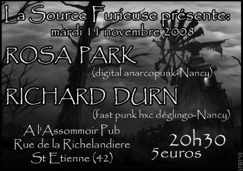 """11 novembre 2008 Rosa Park, Richard Durn à St-Etienne """"L'Assommoir"""""""