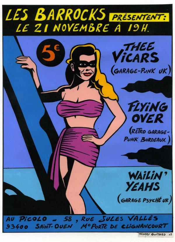 """21 novembre 2009 Thee Vicars, Flying Over, Wailin' Yeahs à Saint Ouen """"le Picolo"""""""