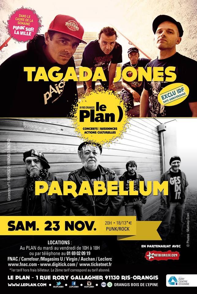 "23 novembre 2013 Parabellum, Tagada Jones à Ris Orangis ""le Plan"""