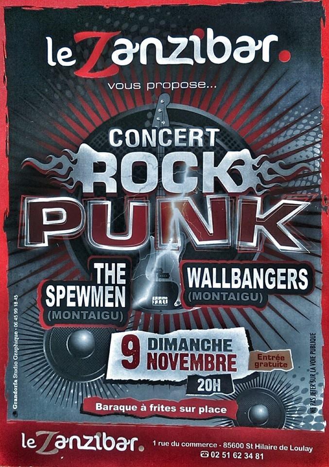 """9 novembre 2014 The Spewmen, Wallbangers à Saint Hilaire de Loulay """"le Zanzibar"""""""