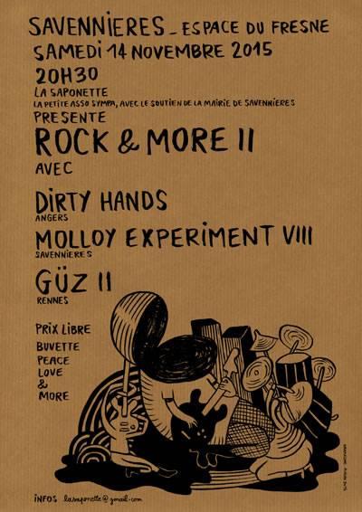 """14 novembre 2015 Dirty Hands,  Molloy Experiment VIII, Guz II à Savennieres """"Espace Du Fresne"""""""