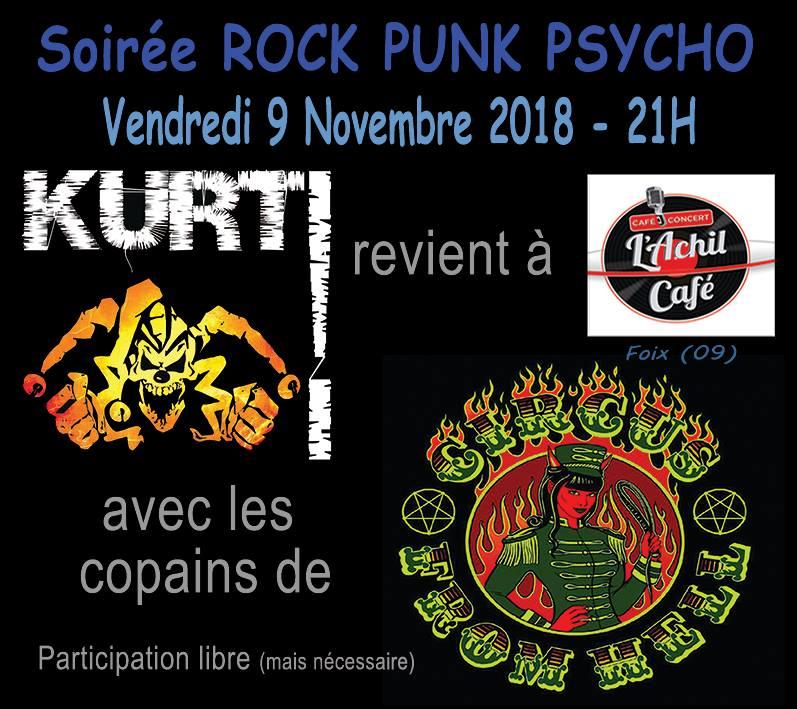"9 novembre 2018 Kurt, Circus From Hell à Foix ""l'Achil Café"""