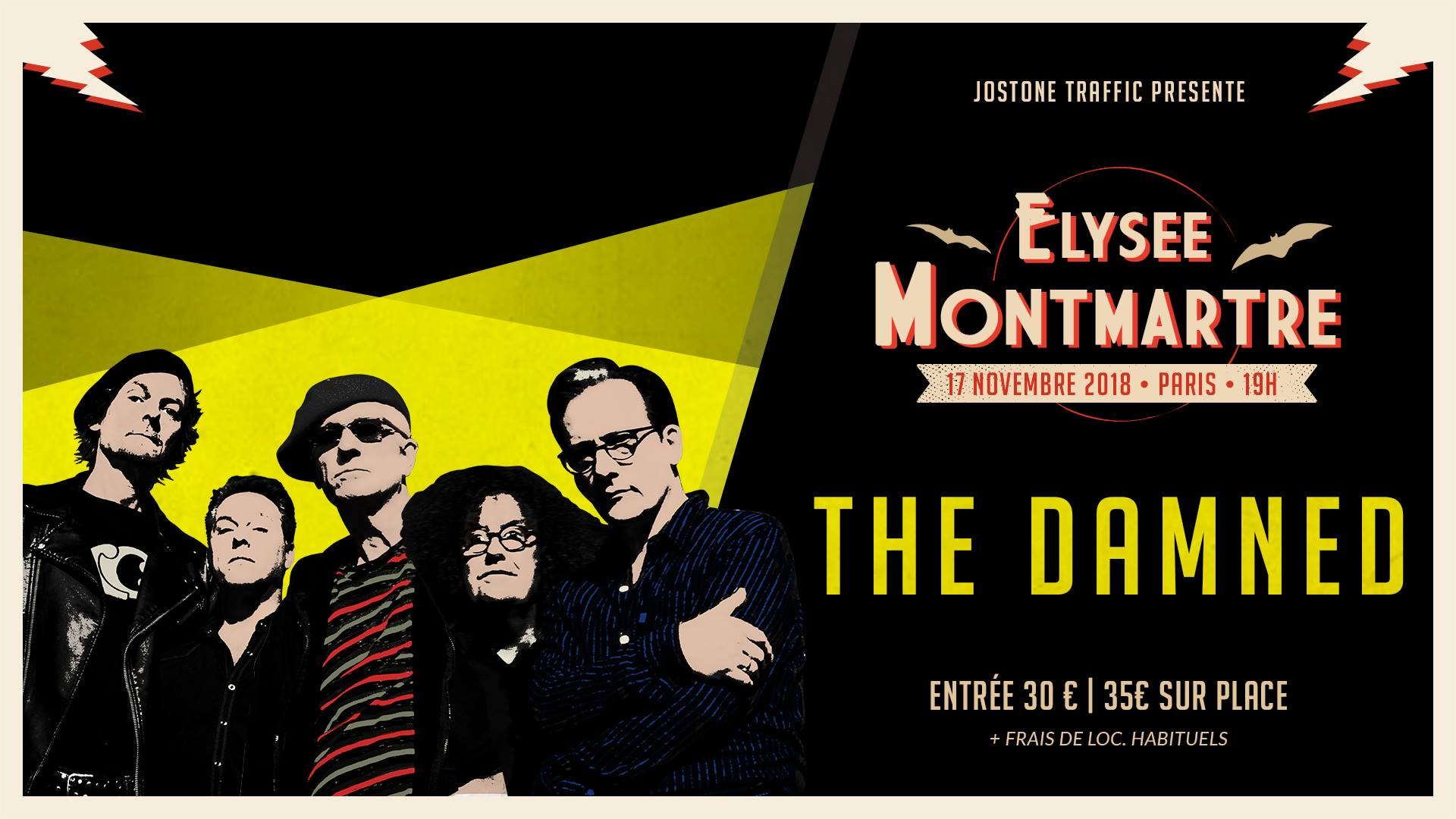 "17 novembre 2018 The Damned, New York Kleps à Paris ""Elysée Montmartre"""