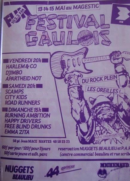 """13 mai 1988 Harlem & Co, Djimbo, Apartheid Not à Nantes """"Majestic"""""""