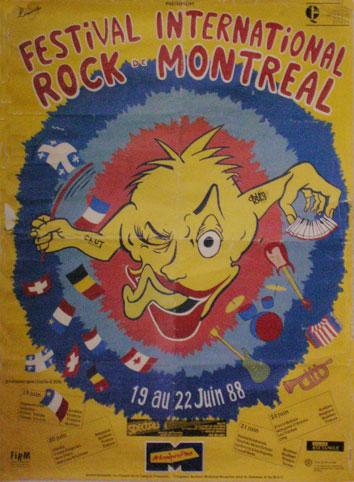 """21 juin 1988 Parfaits Salauds, Vent du Mont Shcarr, La Souris Déglinguée, Young Gods à Montreal """"Spectrum"""""""