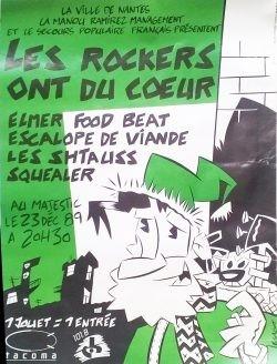"""23 decembre 1989 Elmer Food Beat, Squealer, les Schtauss, EV à Nantes """"Le Majestic"""""""