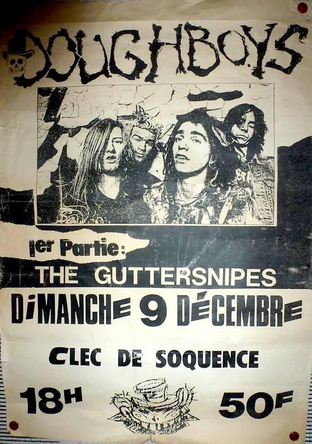 """9 décembre 1990 Doughboys, Guttersnipes au Havre """"Clec de Soquence"""""""