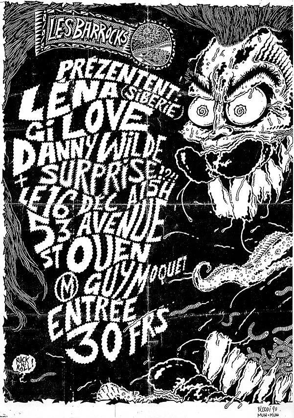 """16 decembre 1990 (?) Lena, GI Love, Danny Wilde à Saint Ouen """"53 Avenue"""""""