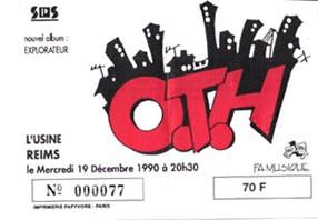 """19 decembre 1990 OTH  à Reims """"l'Usine"""""""