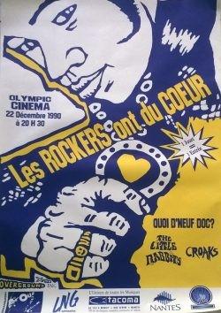"""22 décembre 1990 Quoi d'neuf Docteur, The Little Rabbits, Croaks à Nantes """"L'Olympic"""""""