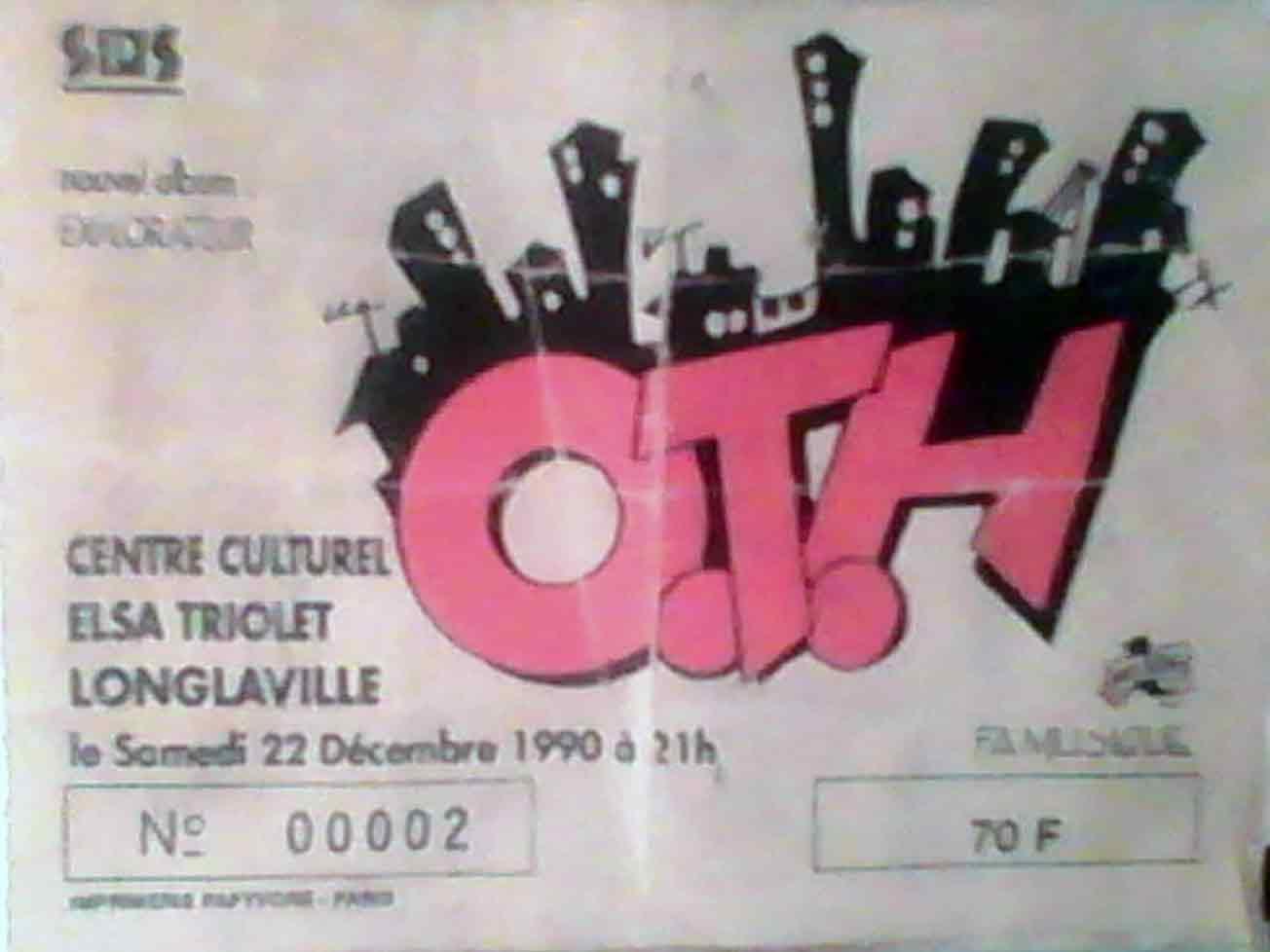 """22 decembre 1990 OTH à Longlaville """"Centre Elsa Triolet"""""""