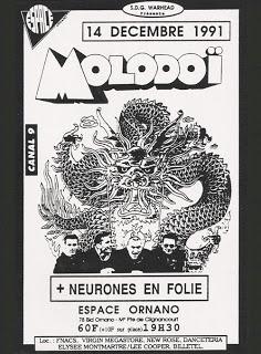 """14 decembre 1991 Molodoi, Neurones en Folie à Paris """"Espace Ornano"""""""