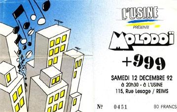 """12 décembre 1992 Molodoï, 999, PKRK à Reims """"l'Usine"""""""