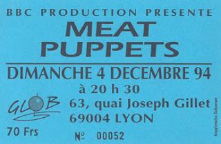 """4 decembre 1994 Meat Puppets à Lyon """"Glob"""""""