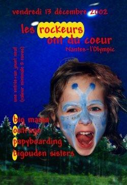 "13 décembre 2002 Big Mama, Outrage, Papyboarding, Bigouden Sisters à Nantes ""L'Olympic"""