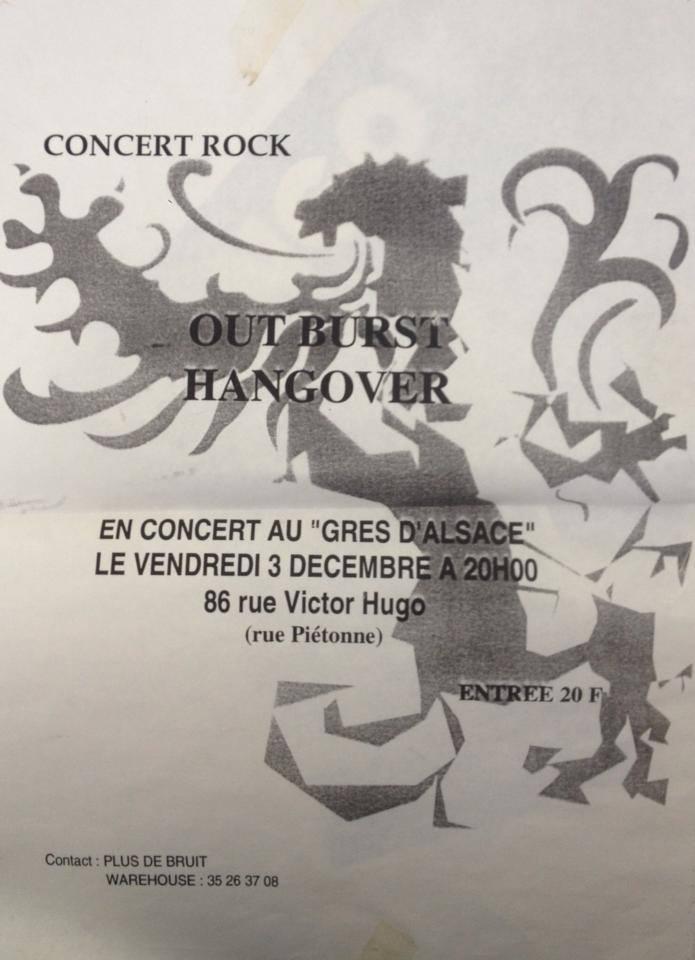 """3 décembre 2004 (?) Outburst, Hangover au Havre """"Gres d'Alsace"""""""