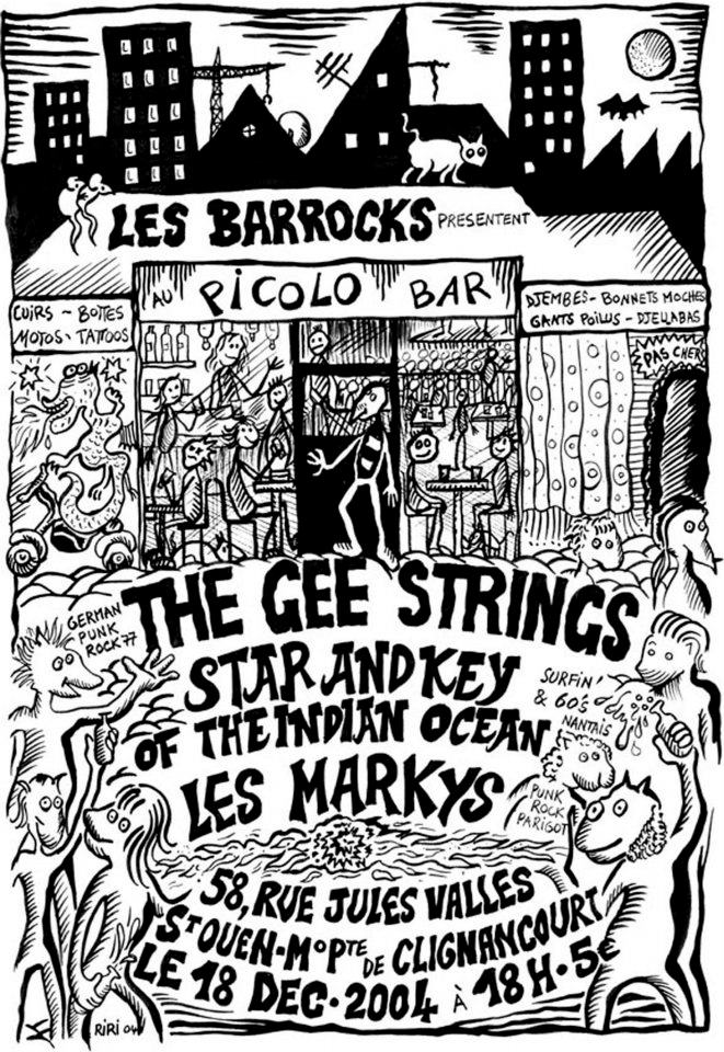 "18 decembre 2004 The Gee Strings, Star and Key Of the Indian Ocean, les Markys à Saint Ouen ""Picolo"""