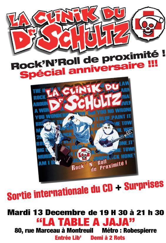 """13 decembre 2005 La Clinik du Dr Schultz à Montreuil """"Table a Jaja"""""""