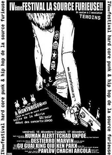 """16 decembre 2005 Human Alert, Destierro, Gu Guai, Xing Qiu, Pavlov à Montbrison """"Salle des Fetes"""""""
