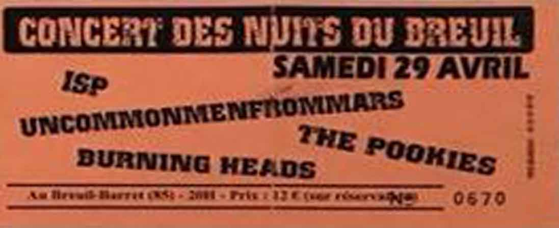 29 avril 2006 ISP, Uncommenmenfrommars, The Pookies, Burning Heads à Breuil
