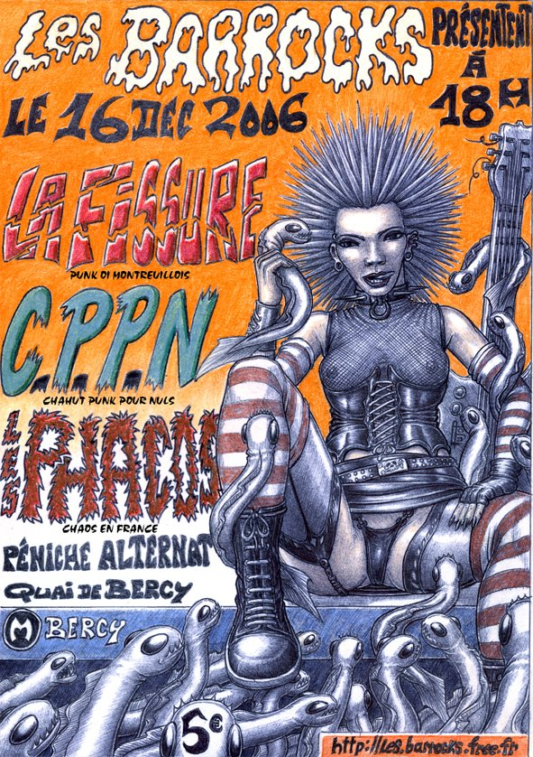 """16 decembre 2006 La Fissure, CPPN, les Phacos à Paris """"Peniche Alternat"""""""