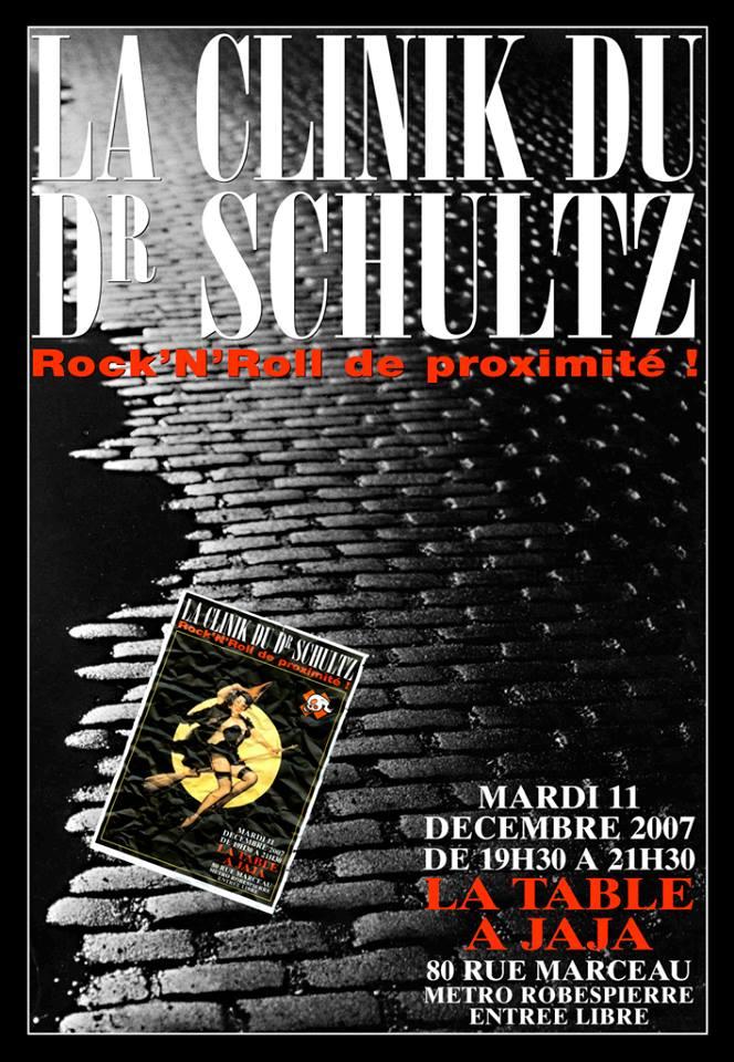 """11 décembre 2007 La Clinik du Dr Schultz à Montreuil """"Table à Jaja"""""""