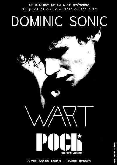 """9 décembre 2010 Dominic Sonic, Wart, Poch à Rennes """"le Bistrot de la Cité"""""""