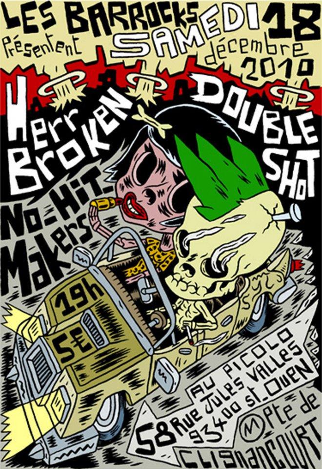 """18 decembre 2010 Herr Broken, Double Shot, No Hit Makers à Saint Ouen """"Picolo"""""""