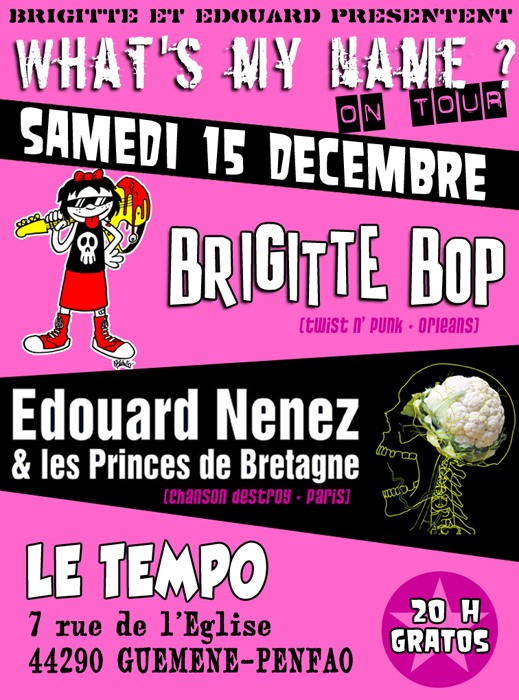 """15 decembre 2012 Brigitte Bop, Edouard Nenez et les Princes de Bretagne à Guémené Penfao """"Tempo"""""""