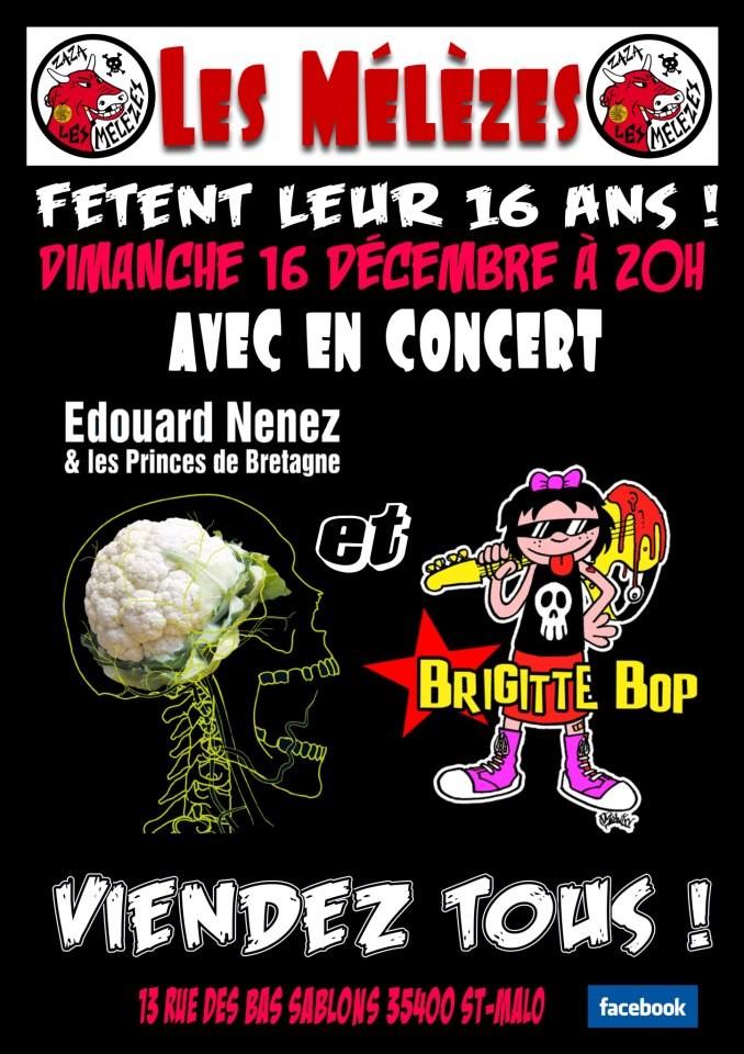 """16 decembre 2012 Edouard Nenez et les Princes de Bretagne, Brigitte Bop à Saint Malo """"les Mélèzes"""""""