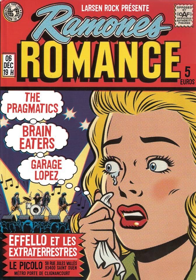 """6 decembre 2013 Effelo & les Extra Terrestres, The Pragmatics, Brain Eaters, Garage Lopez à Saint Ouen """"Le Picolo"""""""
