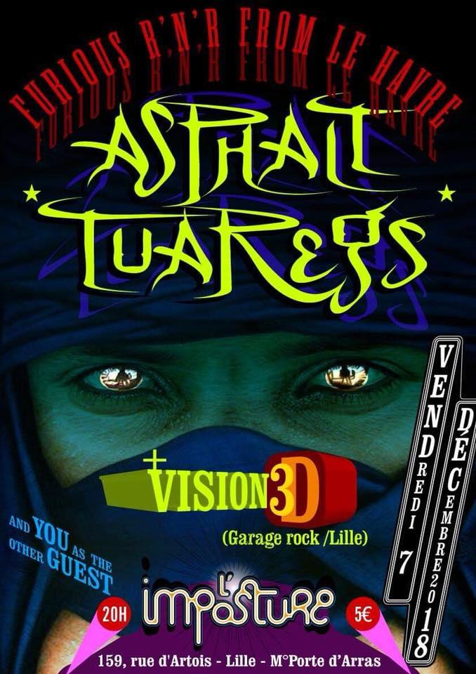 """7 décembre 2018 Asphalt Tuaregs, Vision 3D à Lille """"l'Imposture"""""""
