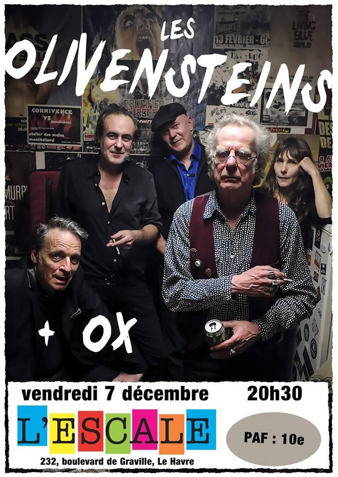 """7 decembre 2018 Olivensteins, Ox au Havre """"l'Escale"""""""