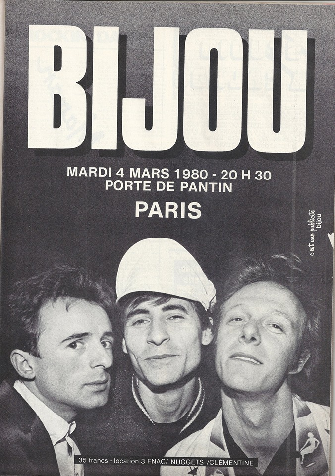 "4 mars 1980 Bijou à Paris ""Porte de Pantin"""