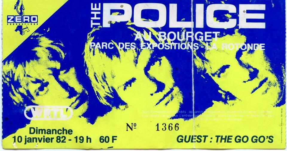 """10 janvier 1982 Police au Bourget """"Parc des Exposition - La Rotonde"""""""