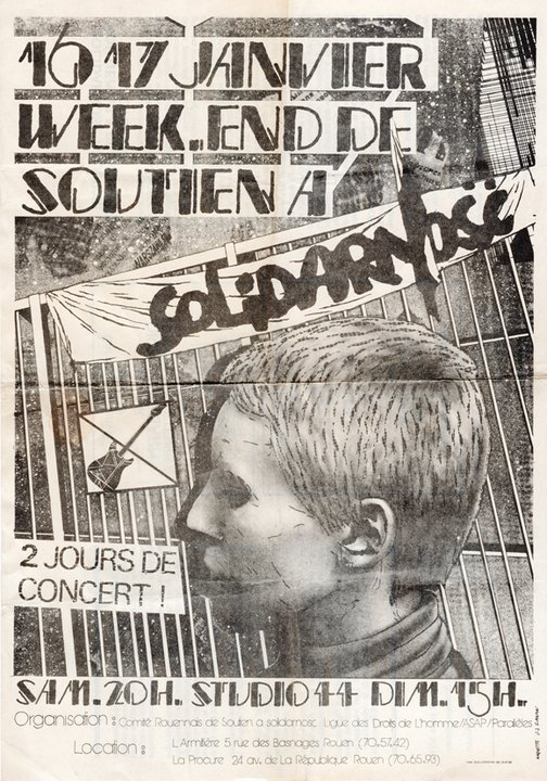 """16 janvier 1982 Bel Air, Dick Annegarn, France Angleterre, Coktail, Histoire de, Joel Pagier, Remy Ferreau, Alain Leprest à Petit Quevilly """"Studio 44"""""""