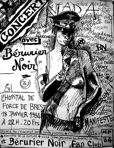 """18 janvier 1984 Berurier Noir à Brest """"Hopital de Force"""""""
