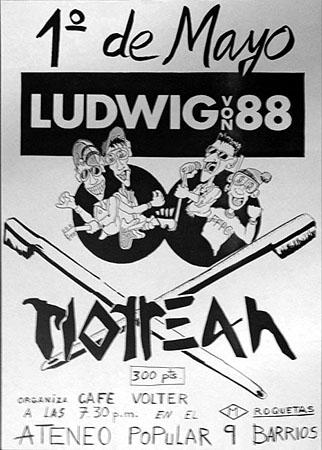 """1er mai 1986 Ludwig Von 88, Motreah à Barcelone """"Café Volter"""""""